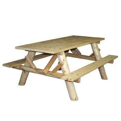 6 ft. Patio Picnic Table with Attached Benches