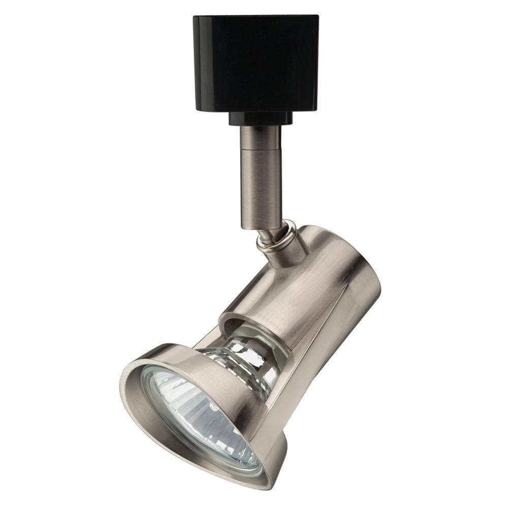 1-Light Brushed Nickel Track Lighting