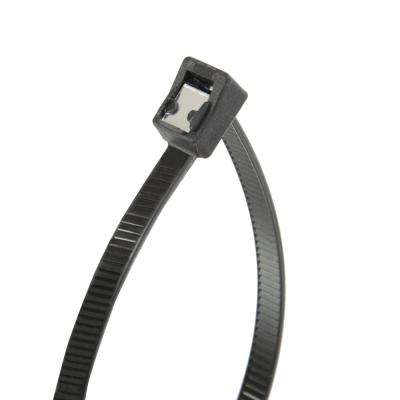 11 in. Self Cutting Cable Tie Black (20-Pack) Case of 10