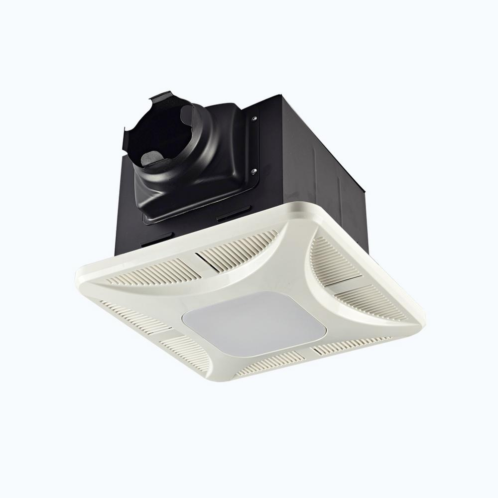 Lift Bridge Kitchen & Bath Slim Profile LED Panel 110 CFM Ceiling Bathroom  Exhaust Fan
