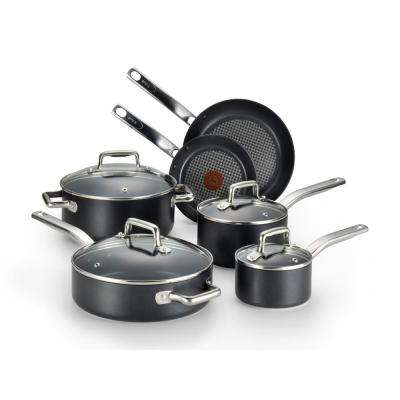 Prograde 10-Piece Black Non-stick Cookware Set