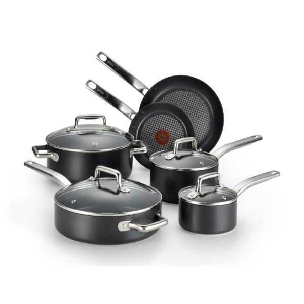 Prograde 10-Piece Aluminum Nonstick Cookware Set in Gray