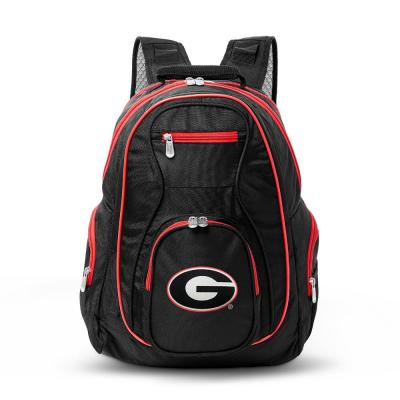 NCAA Georgia Bulldogs 19 in. Black Trim Color Laptop Backpack