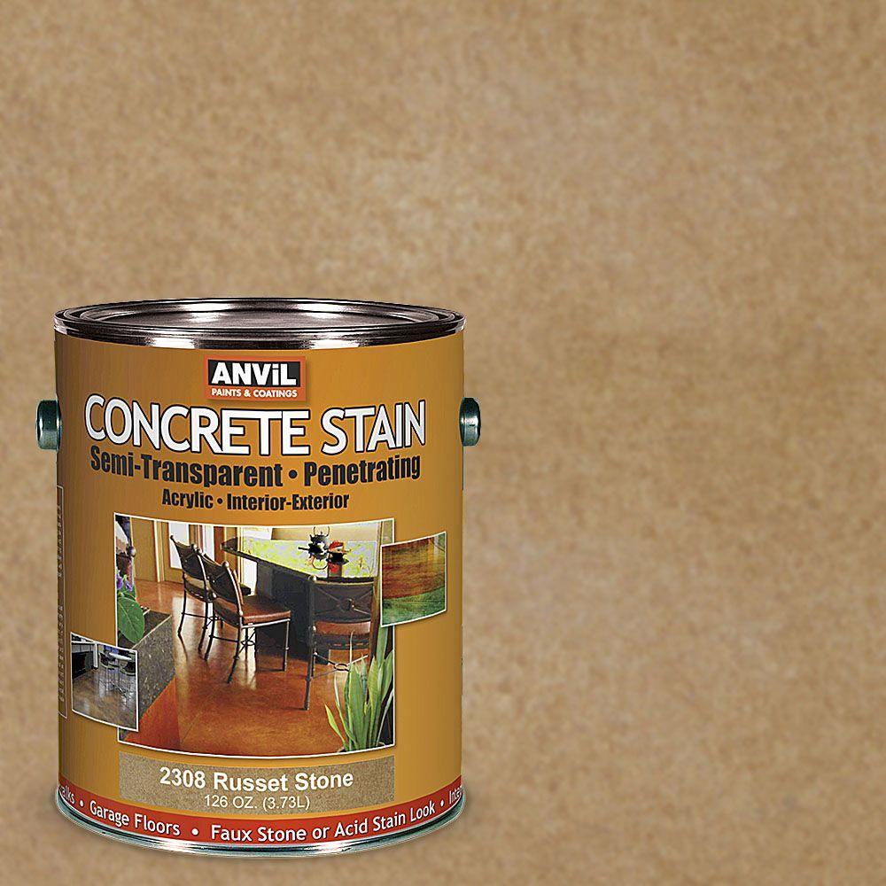 1-gal. Russet Stone Semi-Transparent/Translucent Concrete Stain