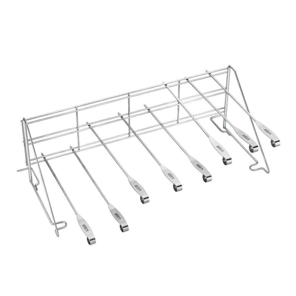 weber original grill rack and skewer set 7615 the home depot. Black Bedroom Furniture Sets. Home Design Ideas