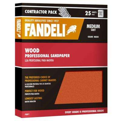 9 in. x 11 in. Medium Aluminum Oxide Sandpaper (25-Pack)