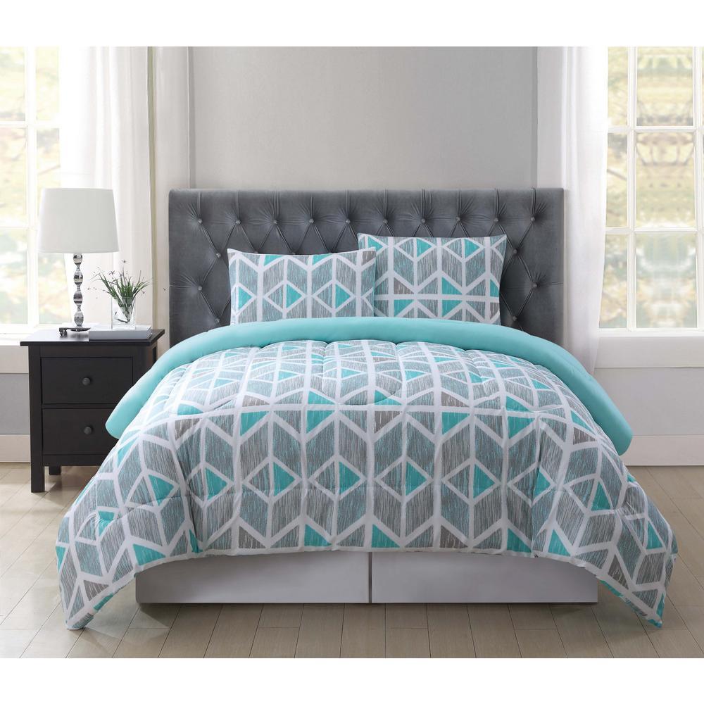 Malene Multi-Color King Comforter Set, Multiple