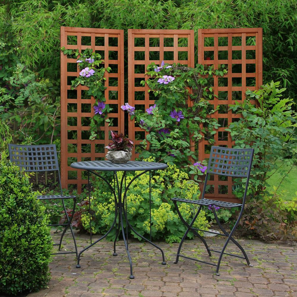 Outdoor Essentials 72 In Wood Square Lattice Trellis 309168 The