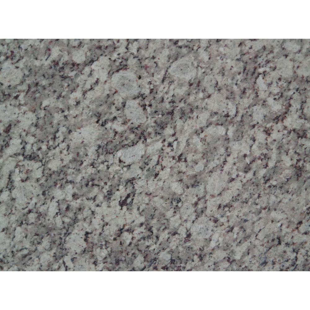 3 in. x 3 in. Granite Countertop Sample in Silver Diamond