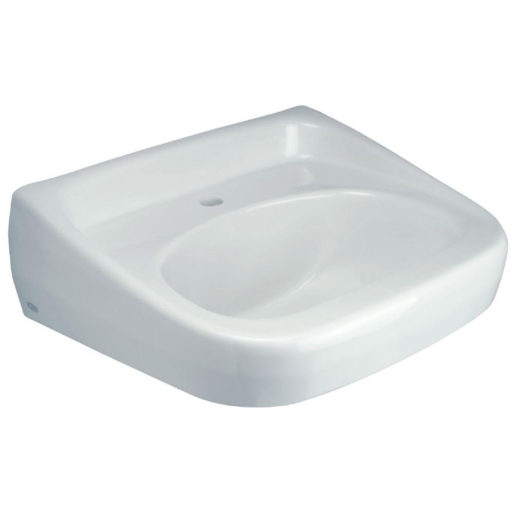 Zurn Wall Hung Bathroom Sink In White Z5341 The Home Depot