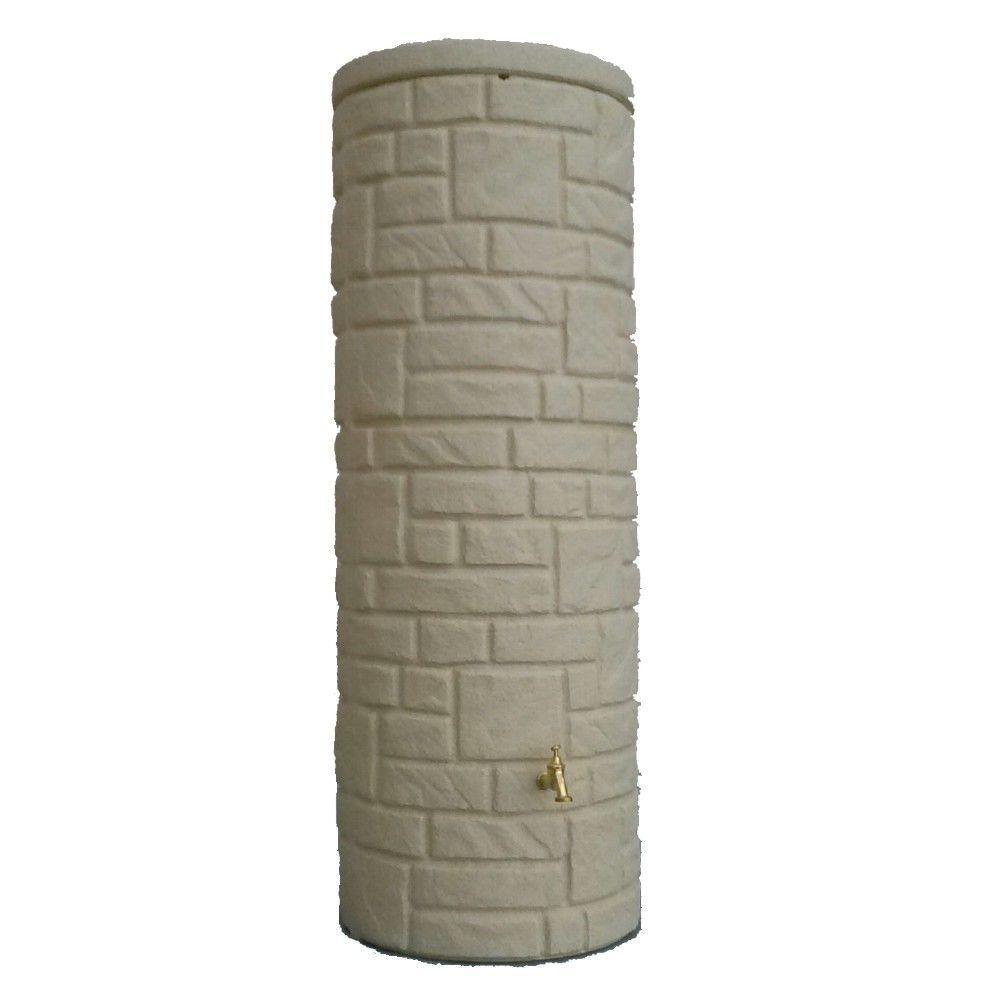 3P Technik Arcado Rain Water Pillar Tank in Sandstone