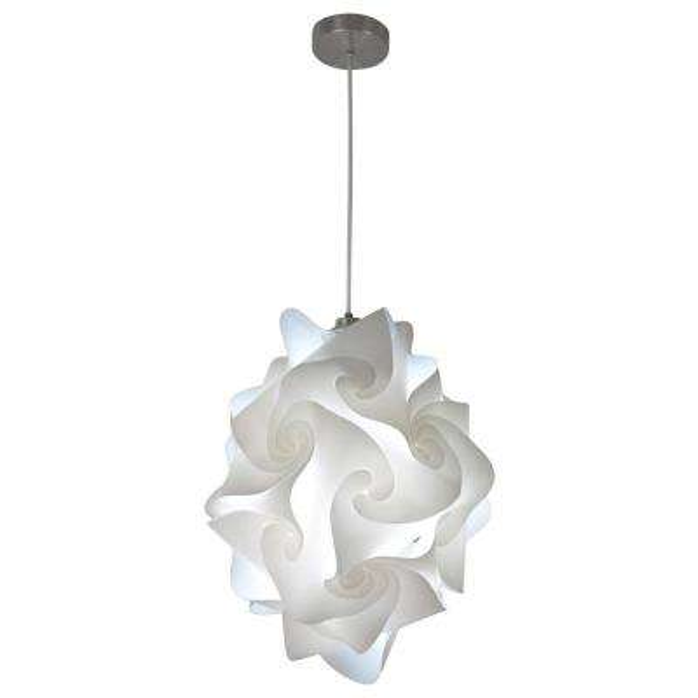 Chi 1-Light White Globe Pendant