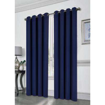 Tessa Navy 54 in. L Grommet Blackout Panel