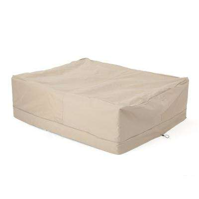 Shield Large Beige Patio Table and Chair Set Cover