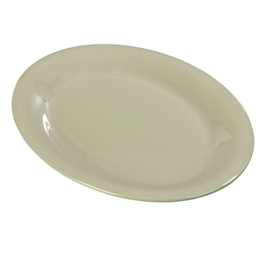 9 in. x 12 in. Melamine Oval Platter in Firenze Green