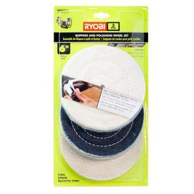 6 in. Buffing Wheel Set (3-Piece)