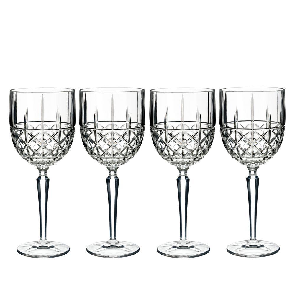 Brady 15 fl. oz. Crystal Red Wine Goblet Glass Set (Set of 4)