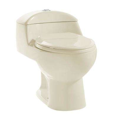 Chateau 1-Piece 0.8 GPF/1.28 GPF Dual Flush Elongated Toilet in Bisque, Seat Included