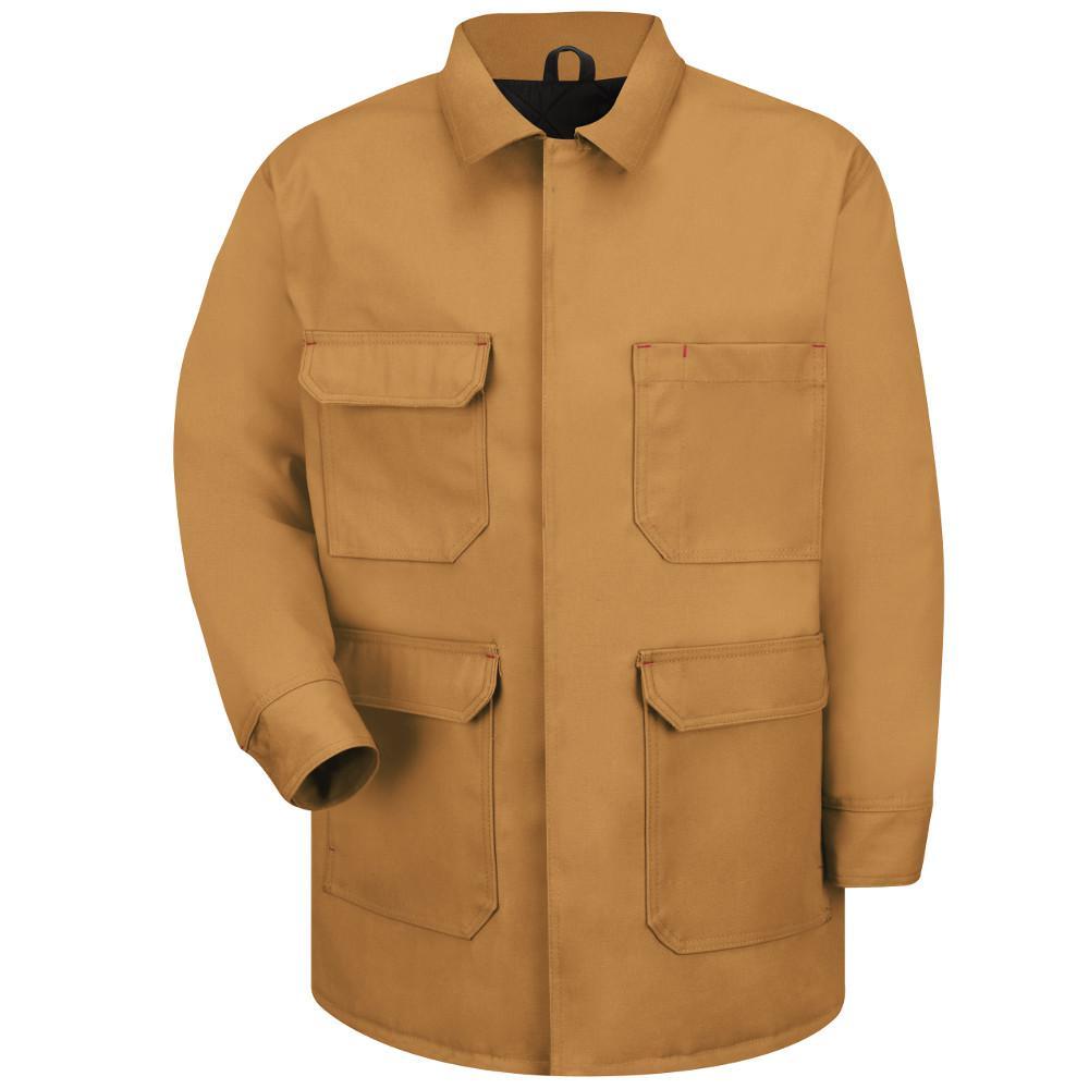 Men's Large Brown Duck Blended Duck Chore Coat