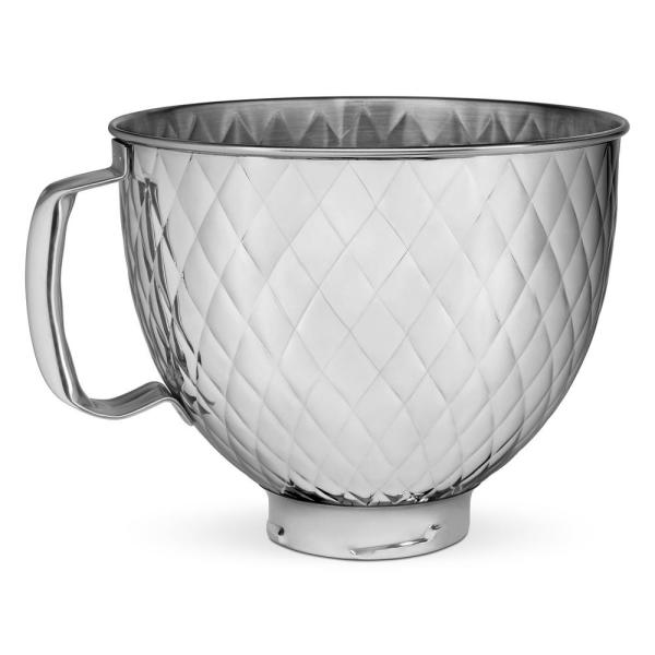 5 Qt. Tilt Head Quilted Stainless Steel Bowl
