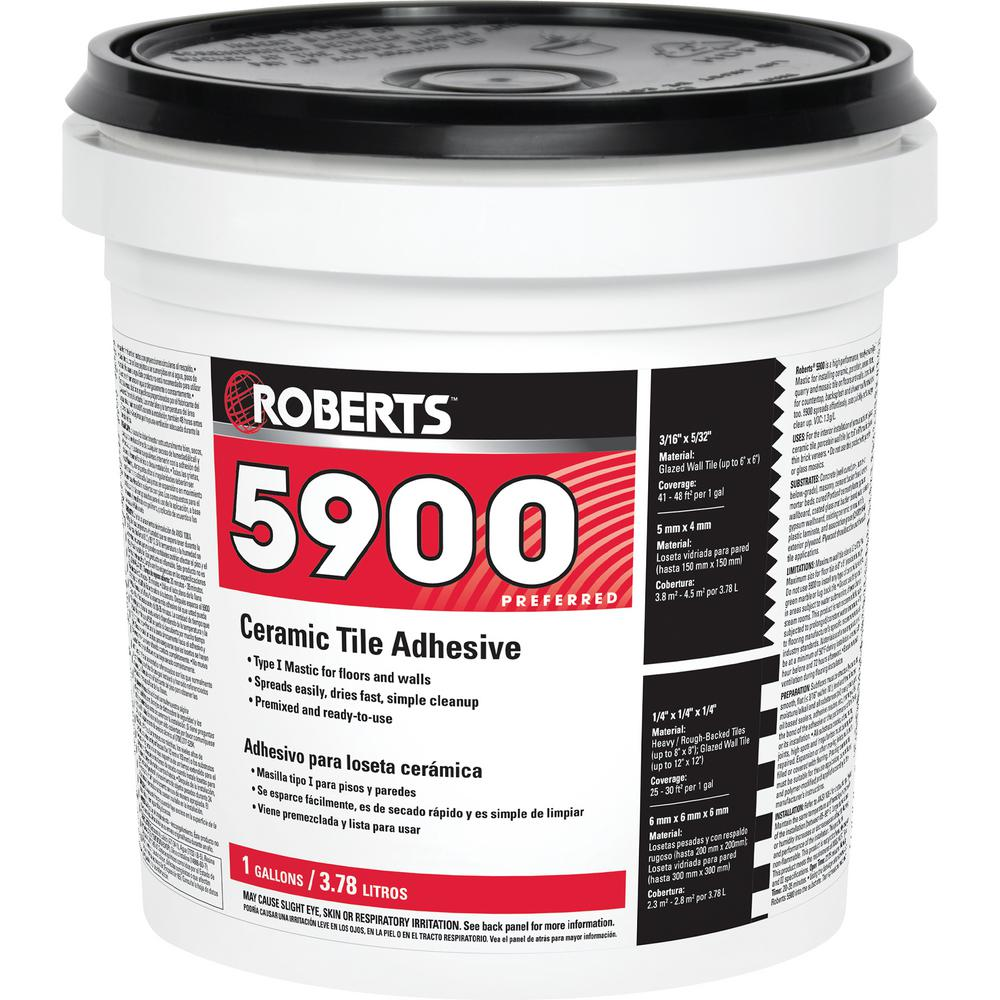 Roberts 1 Gal Ceramic Tile Adhesive 5900 1 The Home Depot