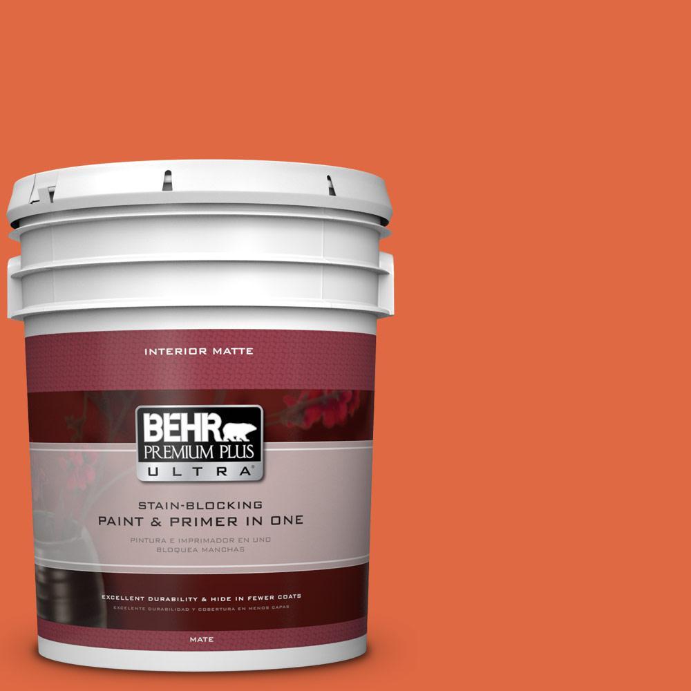 BEHR Premium Plus Ultra 5 gal. #P200-7 Bonfire Night Matte Interior Paint