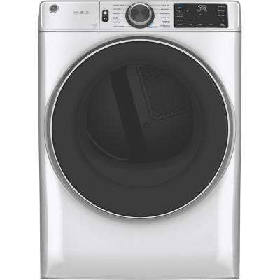 7.8 cu. ft. Smart 120-Volt White Stackable Gas Vented Dryer with Steam and Sanitize Cycle, ENERGY STAR