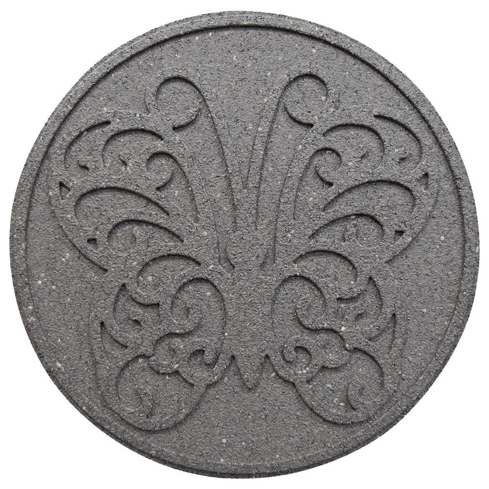 Envirotile 18 in. x 18 in. Reversible Butterfly Gray Stepping Stone (2-Case)