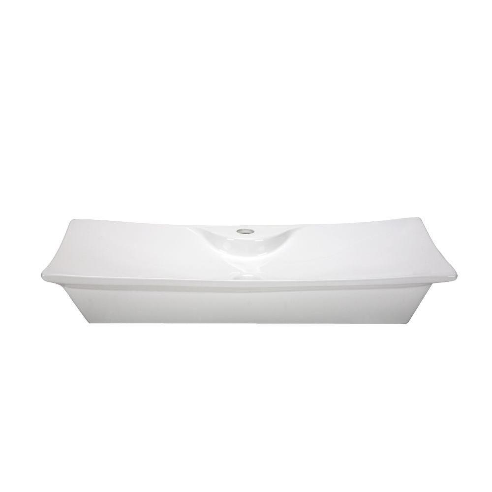 RYVYR Vessel Sink in White