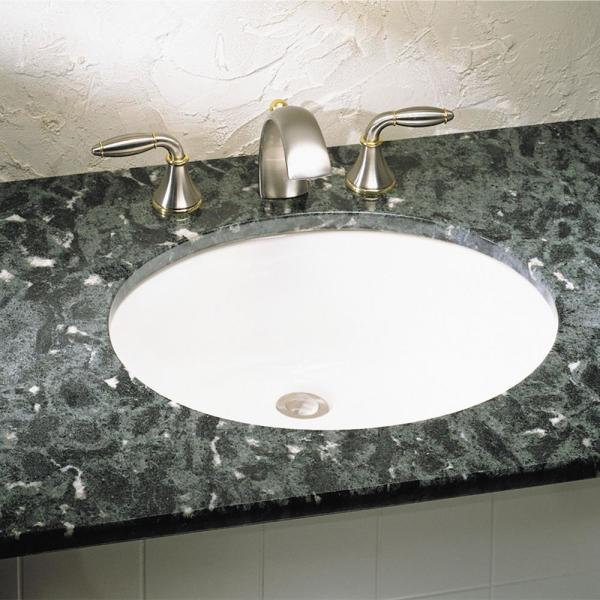 American Standard Ovalyn Front Overflow Undercounter Bathroom Sink With Glazed Underside In White 0497300 020 The Home Depot