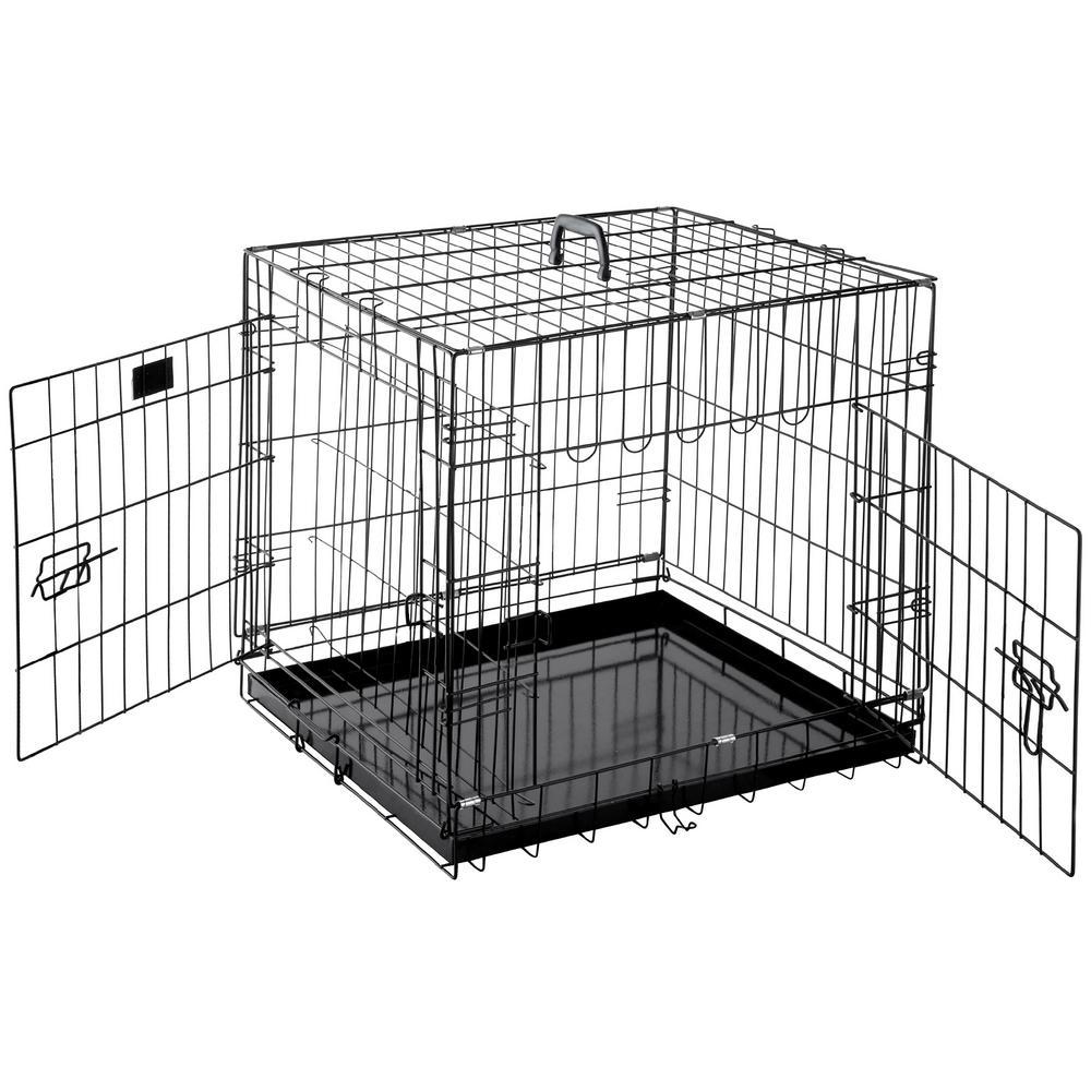 24 in. L x 18 in. W Heavy-Duty Folding Pet Crate