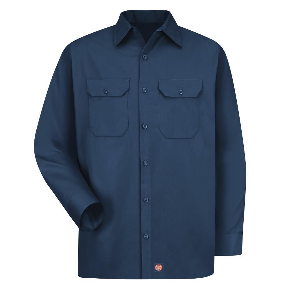 b09272349 Red Kap Men's Size 4XL Navy Utility Uniform Shirt-ST52NV RG 4XL - The Home  Depot