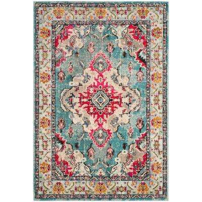 Marvelous Monaco Light Blue/Fuchsia 8 Ft. X 10 Ft. Area Rug