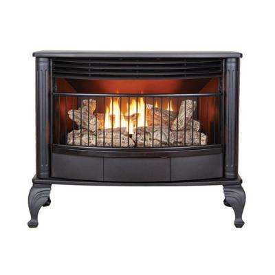 25,000 BTU Ventless Dual Fuel Gas Stove with Thermostat