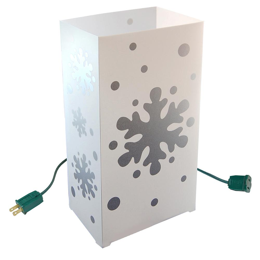 Lumabase Snowflake Electric Luminaria Kit (Set of 10)