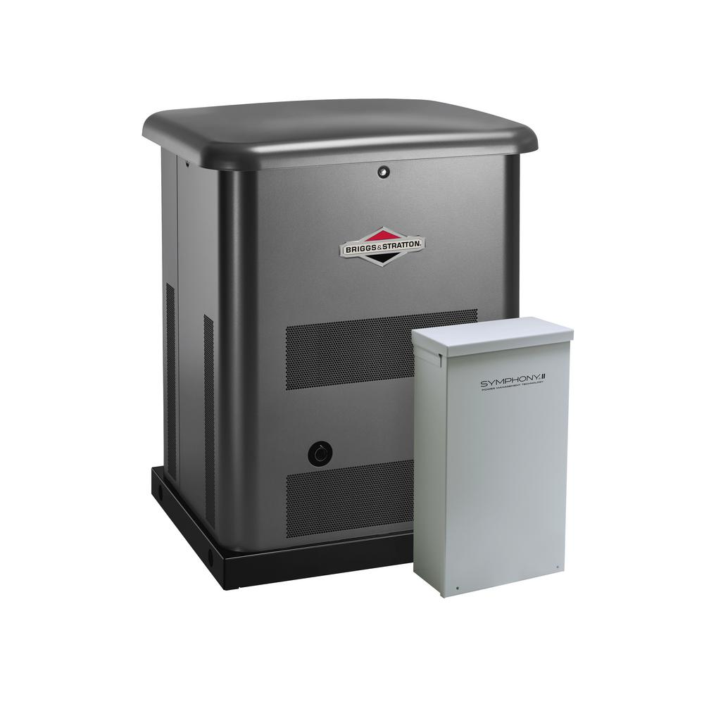 Briggs & Stratton 10,000-Watt Automatic Air Cooled Standby Generator with 200 Amp Transfer Switch