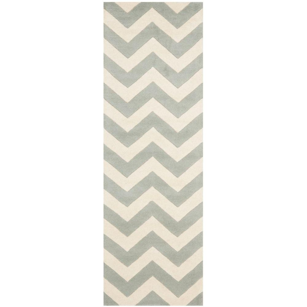 Safavieh Chatham Grey Ivory 2 Ft X 15 Runner Rug
