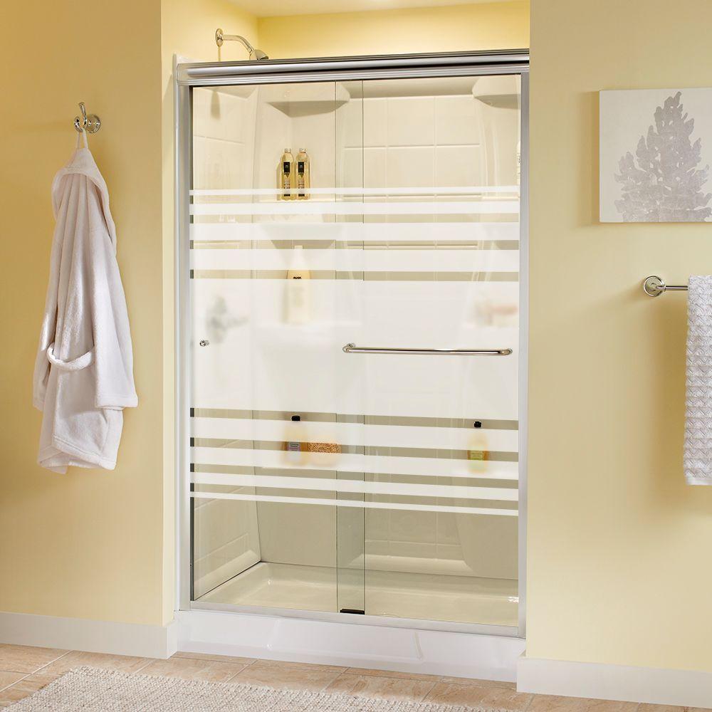 Delta Simplicity 48 In X 70 In Semi Frameless Sliding Shower Door