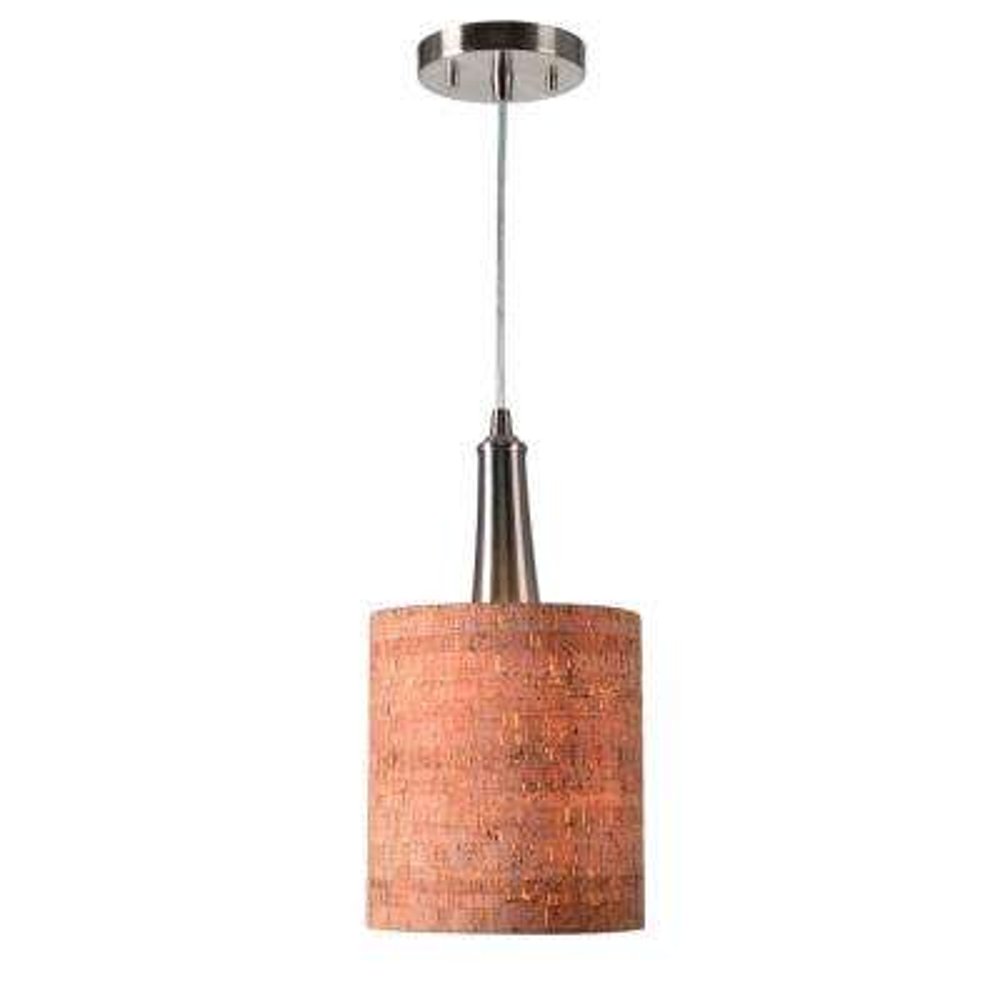 Cork 1-Light Brown Mini Pendant