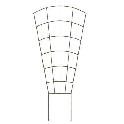 37 in. Pewter Steel Pot Trellis