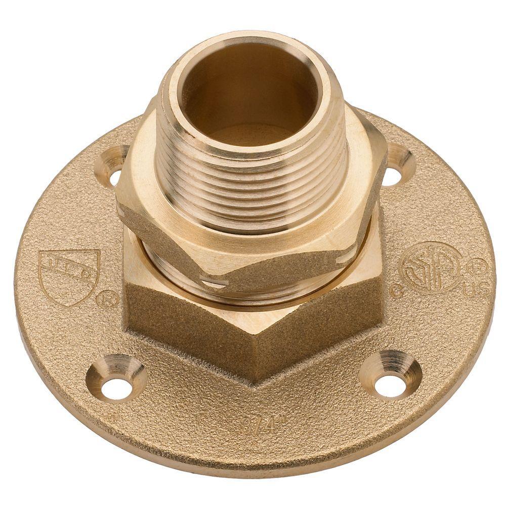 Home Flex 3 4 In Brass Csst X Mipt Termination Flange 11