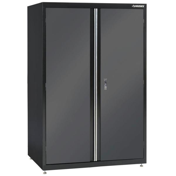 Black and Gray Welded Steel Floor Cabinet (46 in. W x 72 in. H x 24 in. D)