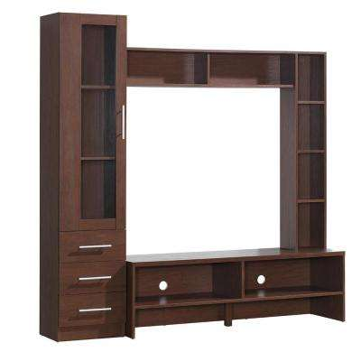 Hickory Techni Mobili Entertainment Center with Storage for TV's Up to 50 in.