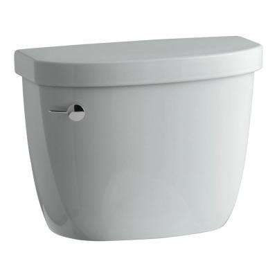 Cimarron 14 in. 1.28 GPF Single Flush Toilet Tank Only in Ice Grey