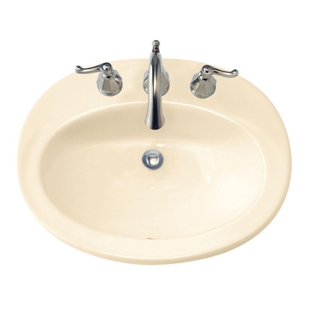 American Standard Piazza Self Rimming Bathroom Sink In Bone The Home Depot