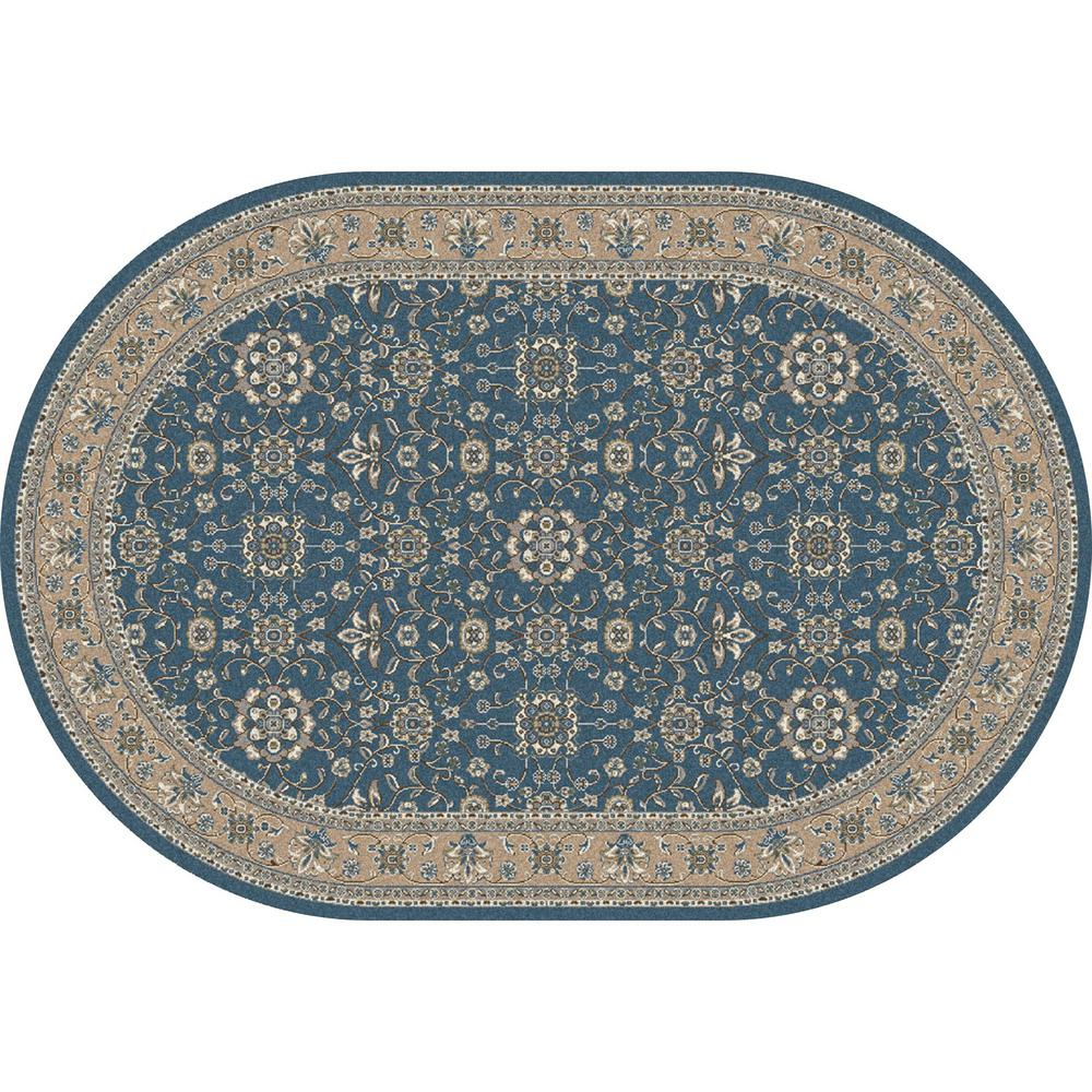 Art Carpet Kensington Serene Border Aqua 7 Ft. X 10 Ft