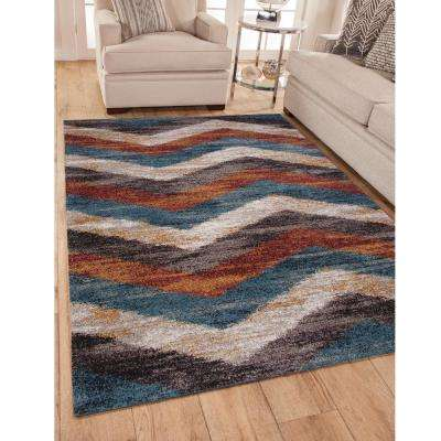Granada Chevron Multi 5 ft. 3 in. x 7 ft. 6 in. Area Rug