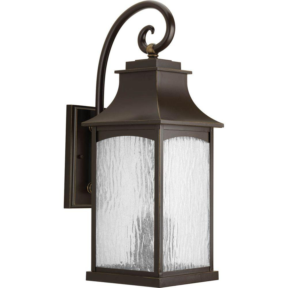 Progress Lighting Maison Collection 3 Light Oil Rubbed Bronze 13 75 In Outdoor Wall Lantern Sconce