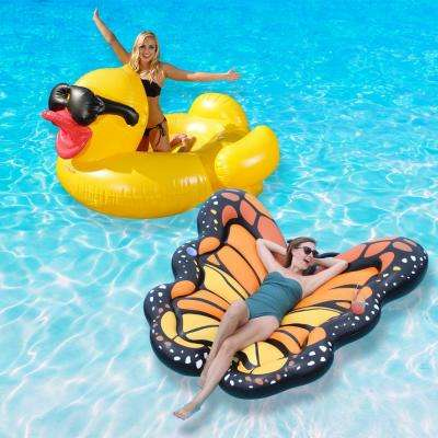 Duck and Monarch Swimming Pool Float Combo Value Pack