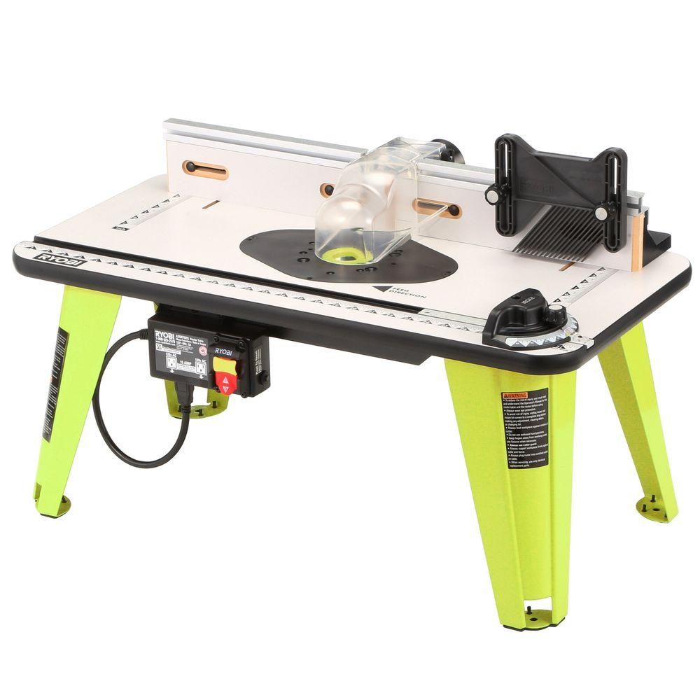 Ryobi 32 in x 16 in intermediate router table a25rt02g the home intermediate router table greentooth Gallery